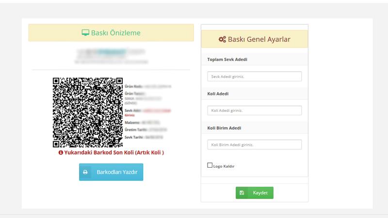 Online Barkod Yönetimi